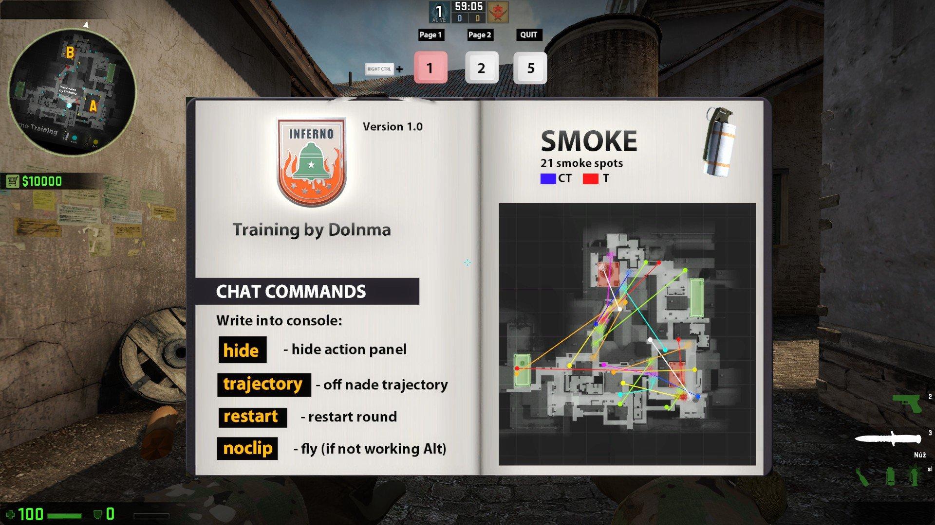 Карта для тренировки раскидок Inferno КС ГО