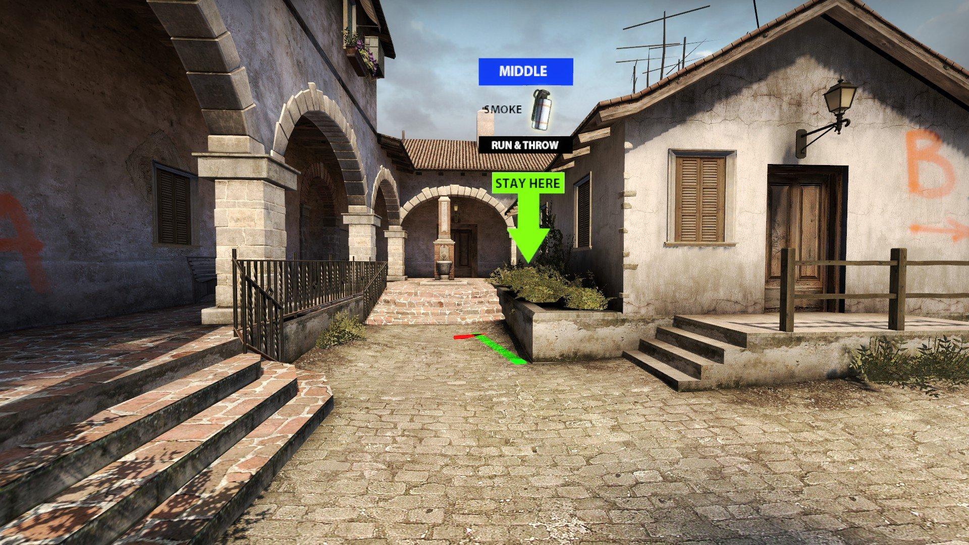 Карта для тренировки раскидок Inferno в CS GO