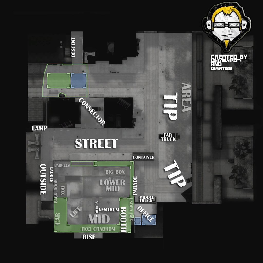 Название позиций на карте CS Assault
