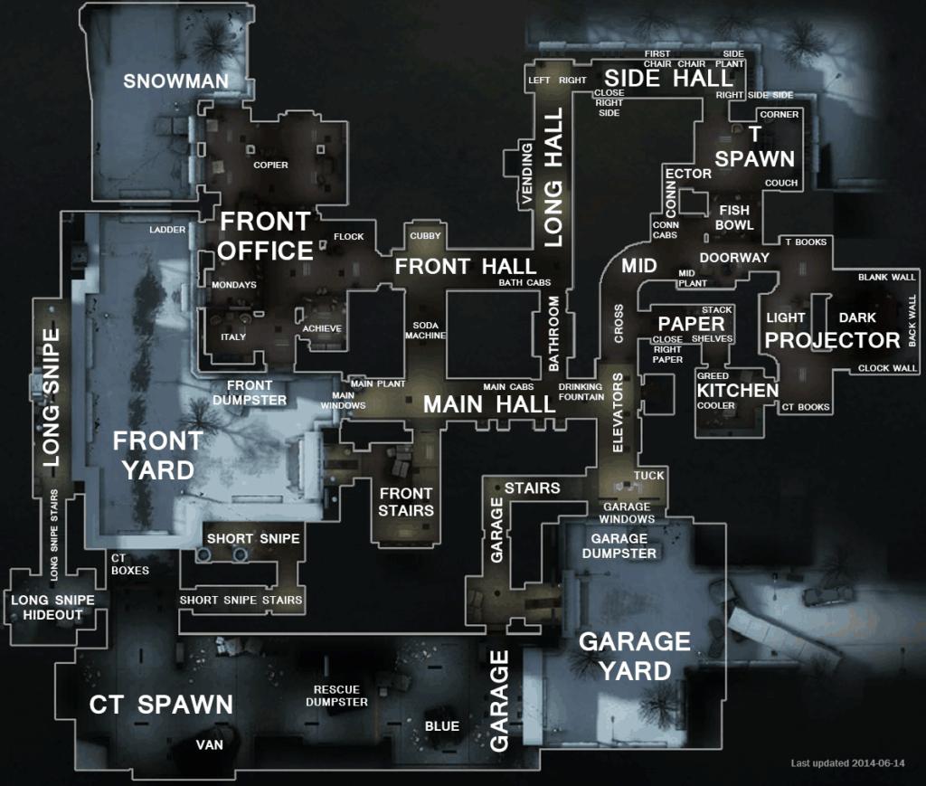 Название позиций на карте Cs_Office