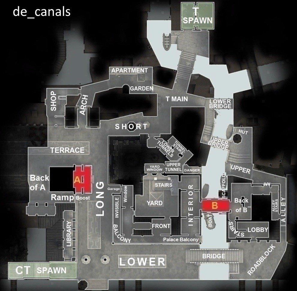 Название позиций на карте De Calans