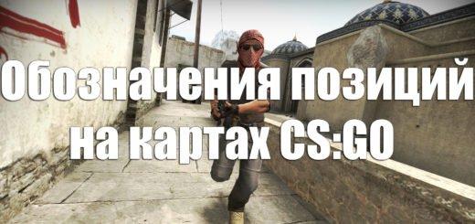 Русские обозначения позиций на картах CS:GO