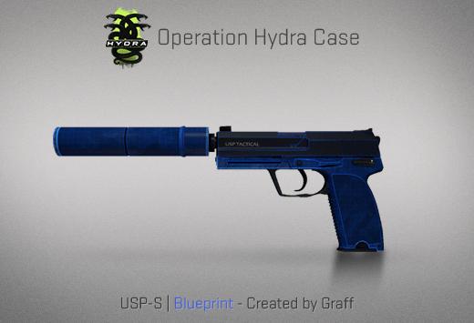 USP-S | Blueprint - Скин из кейса Гидра