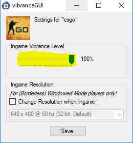 VibranceGUI - Настройка