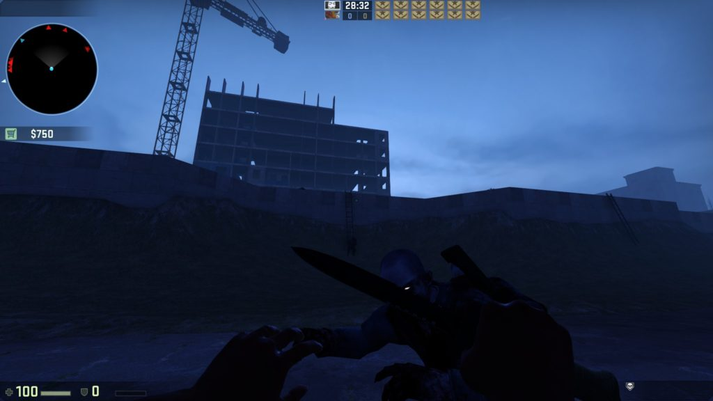 Карта на выживание CS GO - Zombie Survival