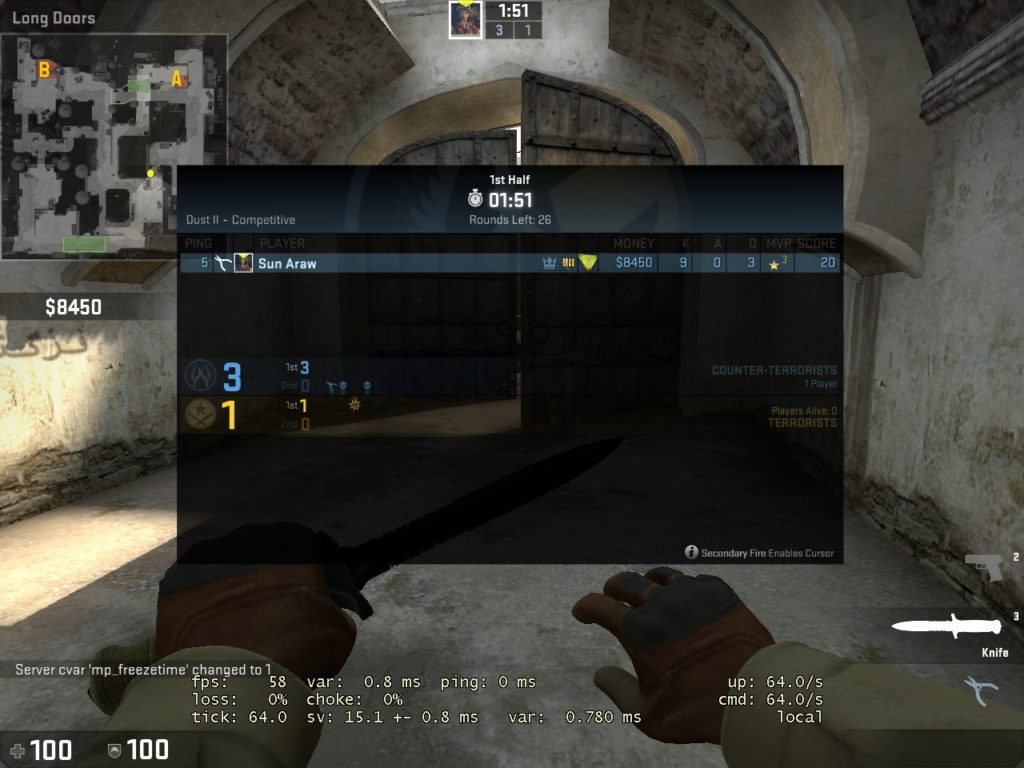 csgo how to change tick rate on bot server