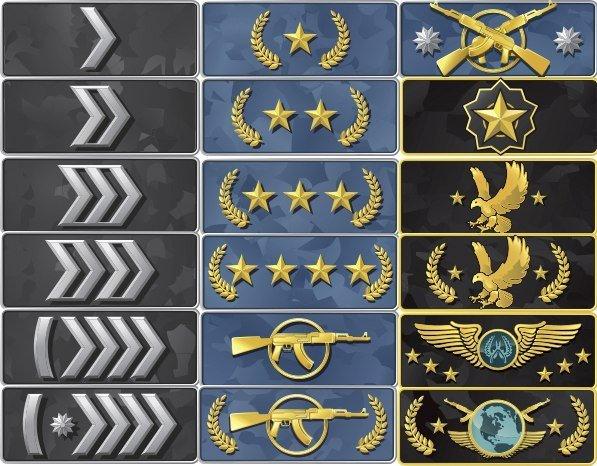 Новые иконки званий CS GO