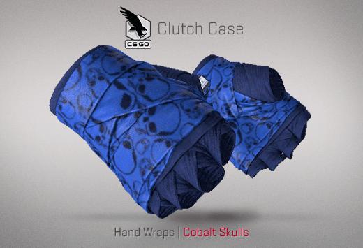 Hand Wraps Cobalt Skulls