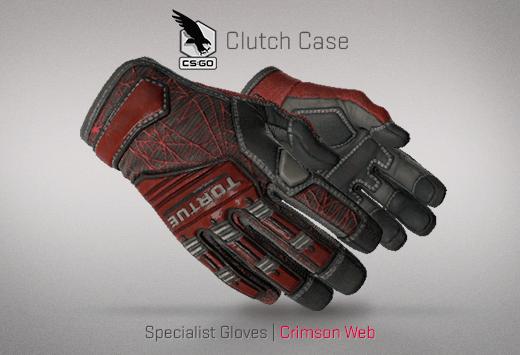 Specialist Gloves Crimson Web