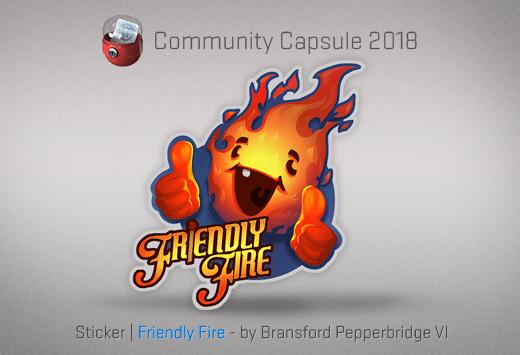 Sticker Friendly Fire