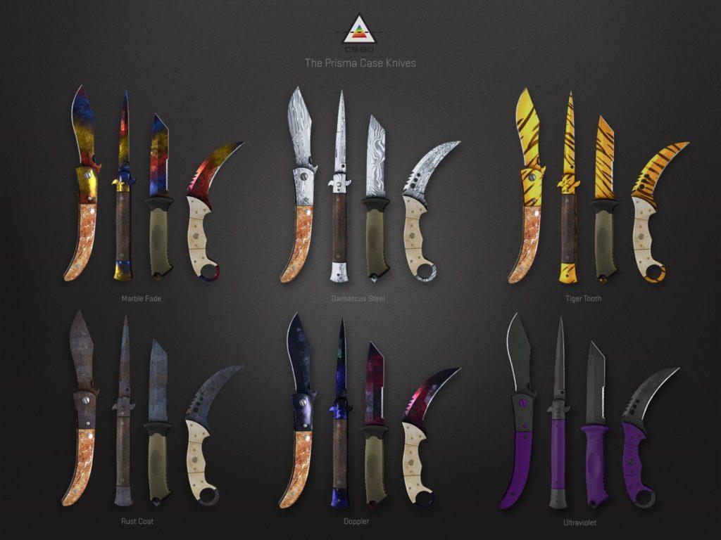 Скины ножей из кейса Prisma / Призма.