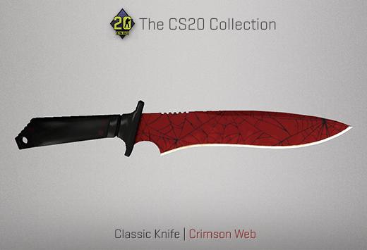 Classic Knife Crimson Web