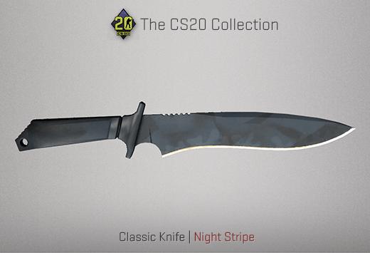 Classic Knife Night Stripe