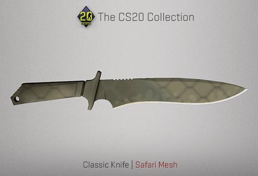 Classic Knife Safari Mesh