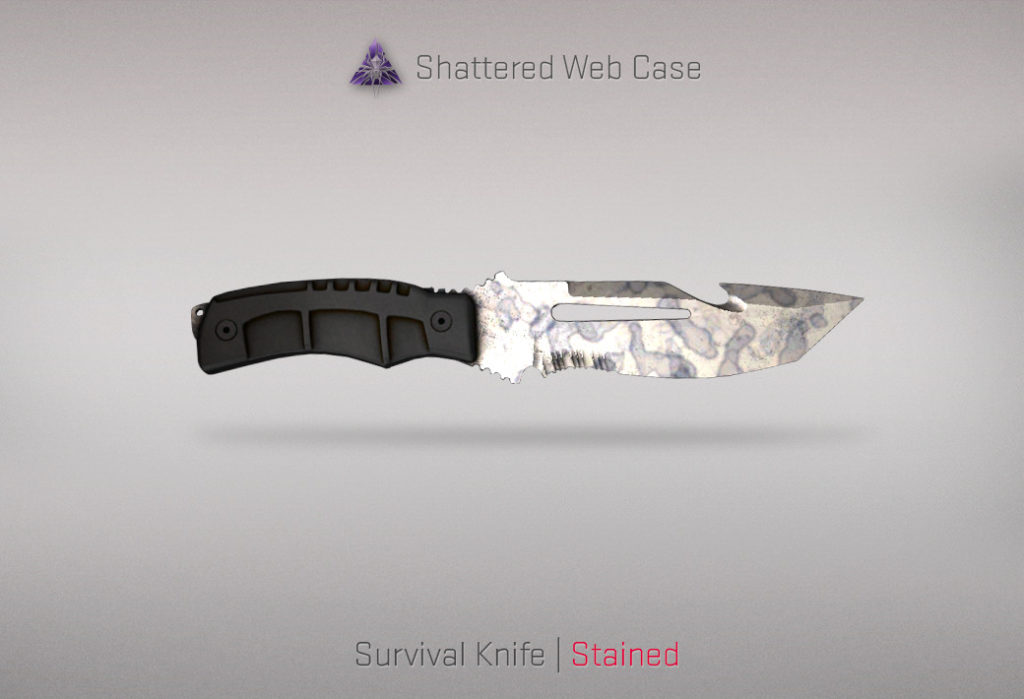 Survival Knife Stained