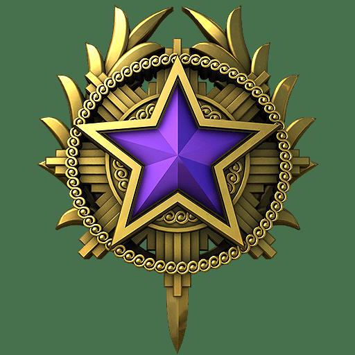 Медаль за службу CS: GO 2020 год 4 уровень