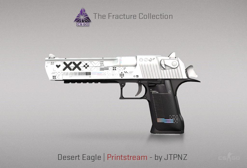 Desert Eagle Printstream - Скин из кейса Fracture Case