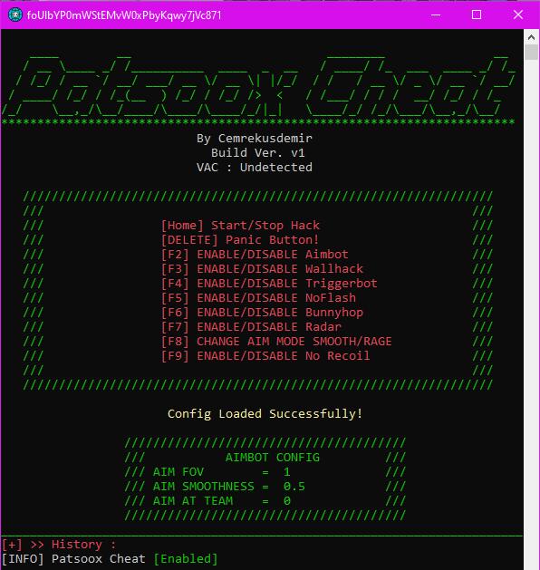 Чит Patsoox External для CS:GO
