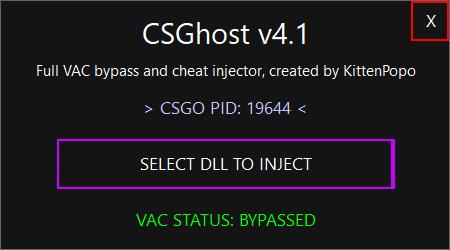 csghost инжектор для читов КС ГО