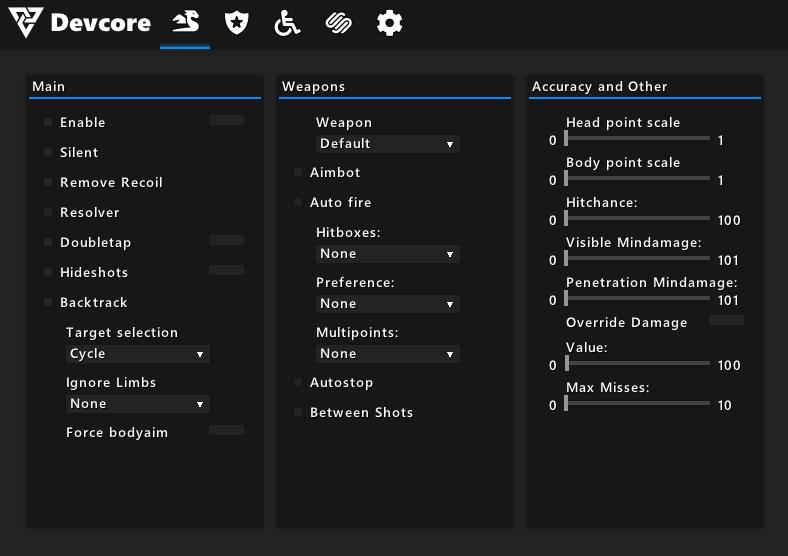 Чит для CS:GO Devcore