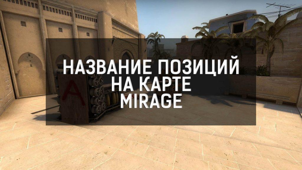 Название позиций на карте Mirage CS:GO
