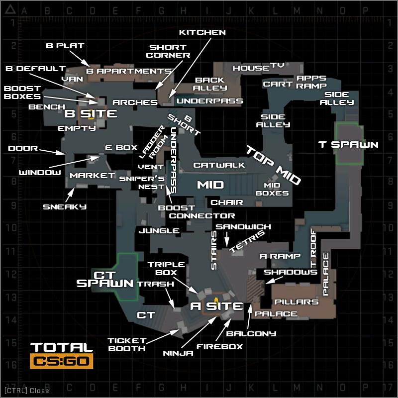 Позиции на карте Мираж на английском
